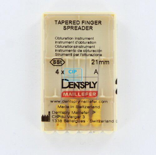 MAILLEFER TAPERED FINGER SPREADERS 21mm A GEEL (4st)