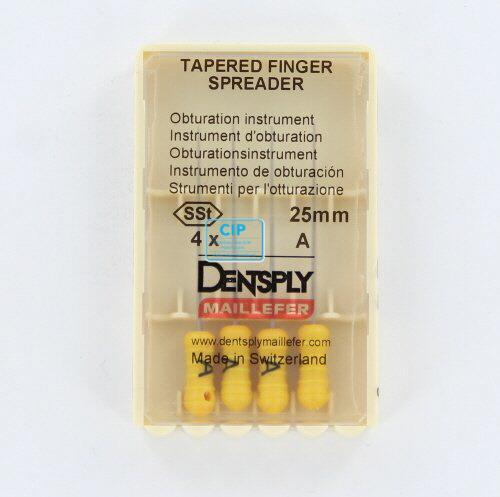 MAILLEFER TAPERED FINGER SPREADERS 25mm A GEEL (4st)