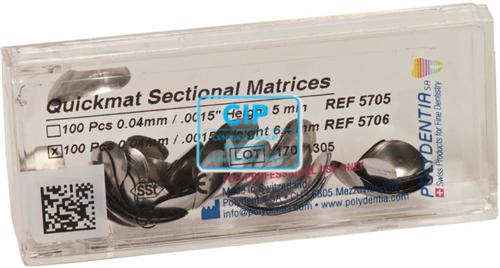 POLYDENTIA QUICKMAT MATRIXEN MOLAAR 6,4mm/0,04 NR.5706 (100st)