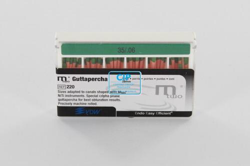 VDW Mtwo GUTTA PERCHA POINTS .06 28mm NR.35 GROEN (60st)