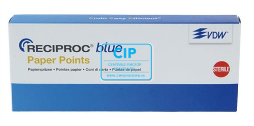 VDW RECIPROC BLUE PAPER POINTS R25 ROOD (180st)