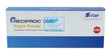 VDW RECIPROC BLUE PAPER POINTS R50 GEEL (180st)