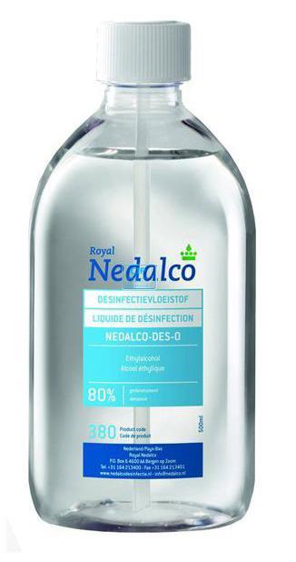 NEDALCO DES-O DESINFECTIE-ALCOHOL 80% (0,5ltr)