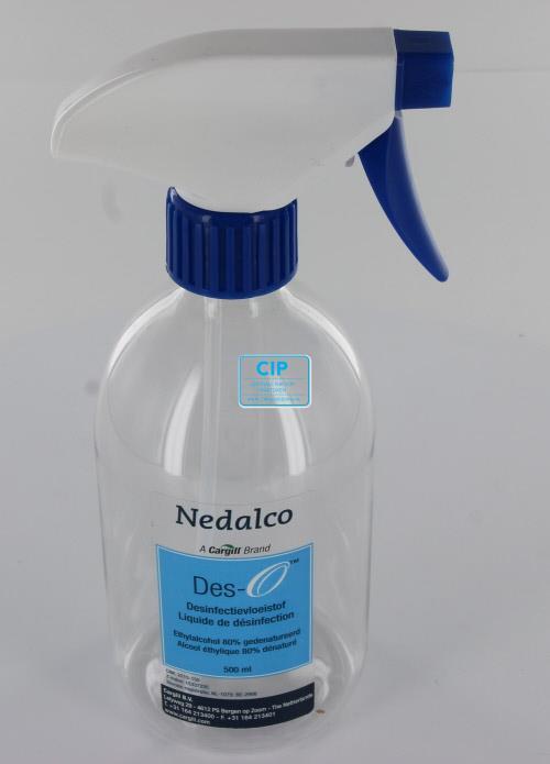 NEDALCO DES-O DESINFECTIE-ALCOHOL SPROEIFLESJE + TRIGGER (500ml)