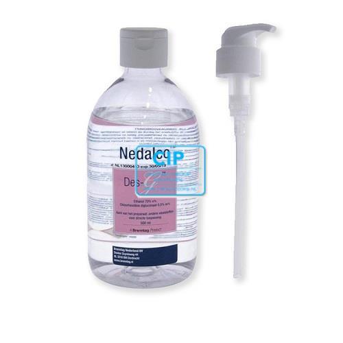 NEDALCO DES-G OPPERVLAKTE (EN HAND-) DESINFECTIE ALCOHOL 70% (0,5ltr)