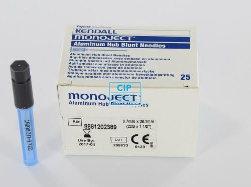 MONOJECT BLUNT NEEDLES 22GA BLAUW 0,7x22mm (25st)