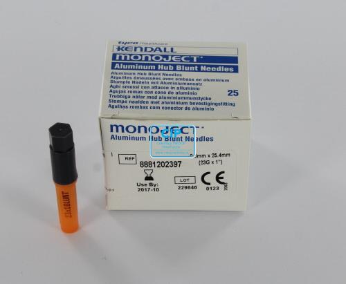 MONOJECT BLUNT NEEDLES 23GA ORANJE 0,6x25,4mm (25st)