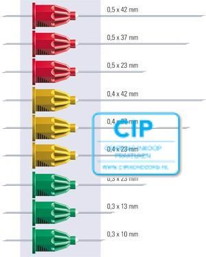 TRANSCODENT TRANSCOJECT-L INJECTIENAALDEN 0,4x23mm 27GA GRIJS (100st)