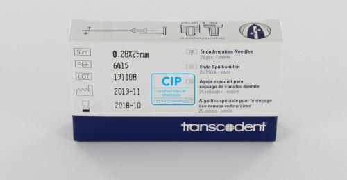 TRANSCODENT SPOELNAALDEN STERIEL 31G 0,28x25mm DOUBLE VENT VIOLET (25st)