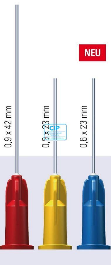 TRANSCODENT PASTA NAALDEN 23G 0,6x23mm BLAUW (100st)