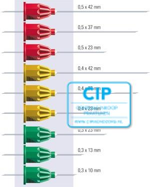 TRANSCODENT TRANSCOJECT-L INJECTIENAALDEN 0,3x23mm 30GA GROEN (100st)