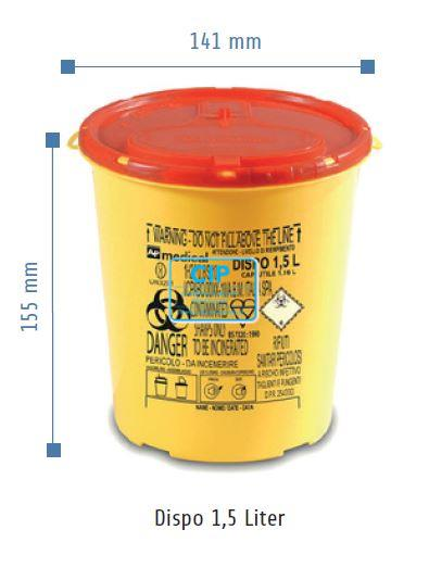 VE-SYSTEMS NAALDENCONTAINER DISPO (1,5ltr)