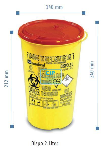 VE-SYSTEMS NAALDENCONTAINER DISPO (2,0ltr)