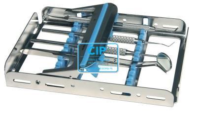 NICHROMINOX INSTRUMENTEN TRAY EASY CLIP-10 ROOD 18x12,8x2,5cm 182910-3