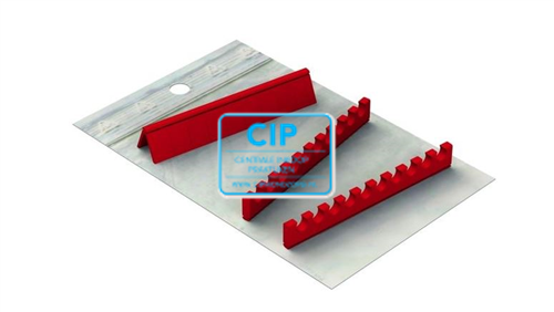 NICHROMINOX INSTRUMENTEN TRAY EASY CLIP-10 SILICONE REFILLS ROOD (3st) 182960-3