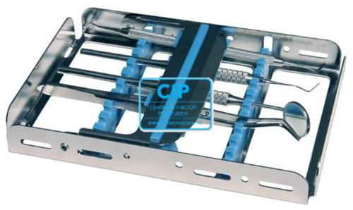 NICHROMINOX INSTRUMENTEN TRAY EASY CLIP-10 ORANJE 18x12,8x2,5cm 182910-7