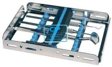 NICHROMINOX INSTRUMENTEN TRAY EASY CLIP-10 GROEN 18x12,8x2,5cm 182910-4