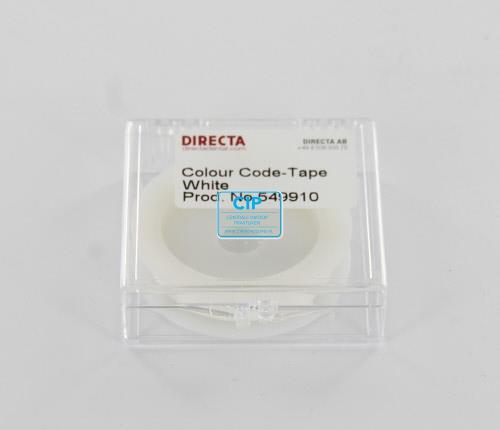 DIRECTA TAPE`N TELL IDENTIFICATIETAPE ROL WIT (6mm/3mtr)