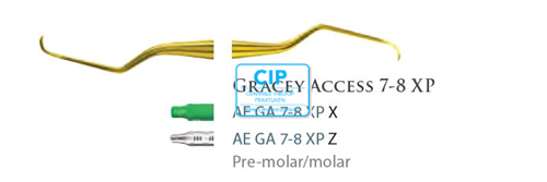 AMERICAN EAGLE GRACEY CURETTE ACCESS XP 7/8 GROENE HANDLE NR.AEGA7/8XPX