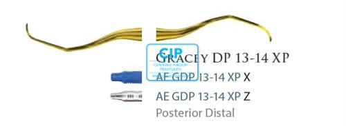 AMERICAN EAGLE GRACEY CURETTE DEEP POCKET XP 13/14 BLAUWE HANDLE NR.GDP13/14XPX