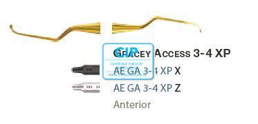 AMERICAN EAGLE GRACEY CURETTE ACCESS XP 3/4 ZWARTE HANDLE  NR.AEGA3/4XPX