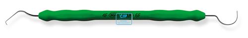 MAILLEFER SONDE NR.4F-6F PLASTIC-COATED HANDLE DUBBELZIJDIG GROEN