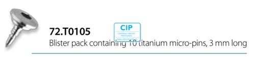 OMNIA TITANIUM MICROPINS LENGTE 3mm STERIEL (10st)