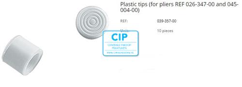 DENTAURUM PLASTIC TIPS STERILISEERBAAR TBV OLIVER JONES REMOVING PLIERS NR.039-357-00 (10st)