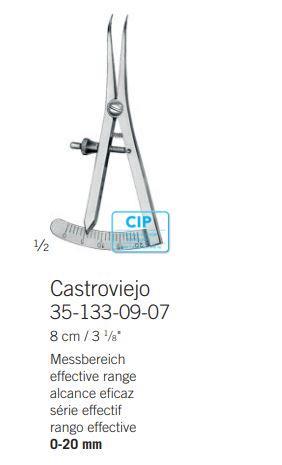 KLS MARTIN PASSER CASTROV.-SCHACH. GEBOGEN 0-20mm REF 35-133-09-07