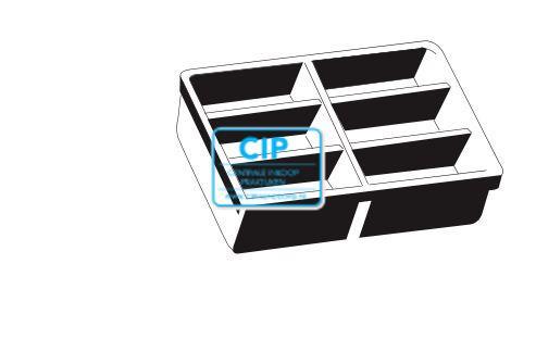 BAISCH LADENINSERT ZONDER RAND 410x308x70 (0861-3150-20)