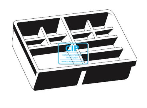 BAISCH LADENINSERT ZONDER RAND 410x308x70 (0861-3162-20)