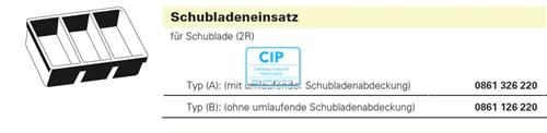 BAISCH LADENINSERT ZONDER RAND 410x308x70 (0861-1262-20)
