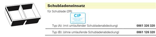 BAISCH LADENINSERT ZONDER RAND 410x308x70 (0861-1263-20)