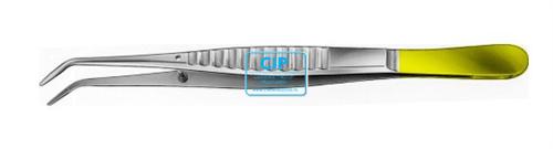 AESCULAP PINCET DUROGRIP GEBOGEN GERIBBELD DA-254R (15cm)