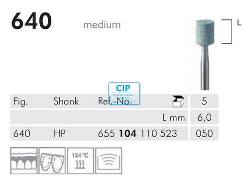MEISINGER HP CORUNDUM STEENTJES 640/050 (5st)