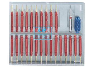 EDENTA RETOPIN GOLD ASSORTIMENT .021 NR.2007 (25 pins/1 boor/1 handle)