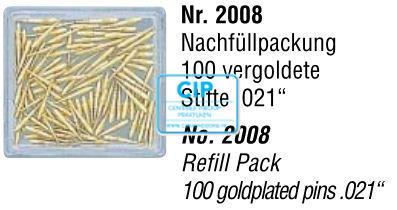 EDENTA RETOPIN GOLD STIFT REFILL .021 NR.2008 (100st)