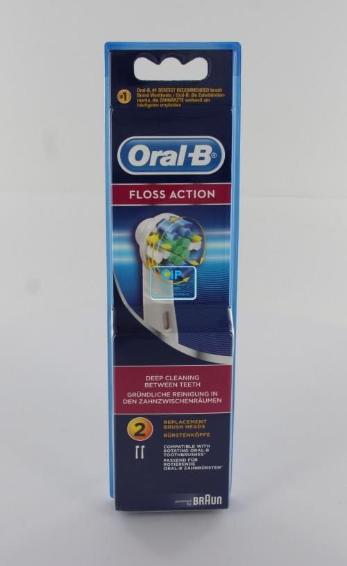 ORAL-B OPZETBORSTELS FLOSS ACTION EB25-2 (2st)
