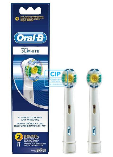 ORAL-B OPZETBORSTELS 3D WHITE (2st)