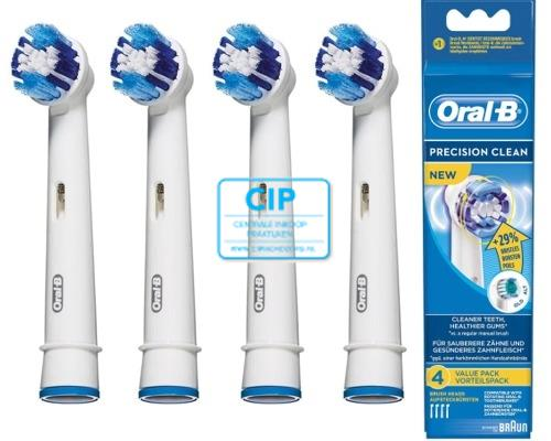 ORAL-B OPZETBORSTELS PRECISION CLEAN EB20-4 (4st)