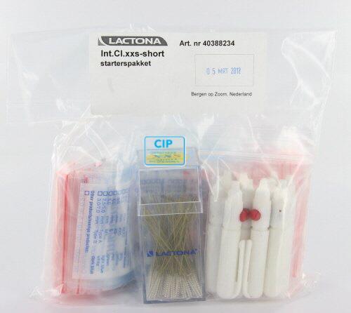 LACTONA INTERDENTAL CLEANERS XX-SMALL SHORT 2,5mm GEEL BOX (100st-100 gripzakjes-10 houders)