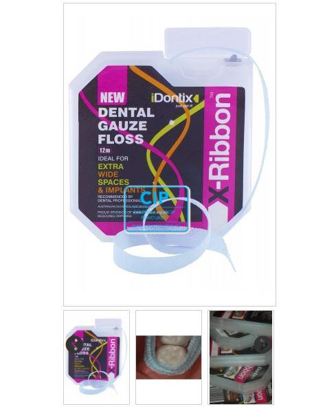 IDONTIX X-RIBBON DENTAL GAUZE FLOSS (12mtr)