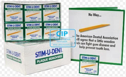 STIM-U-DENT ORIGINAL GREEN MINT OMDOOS (144st)