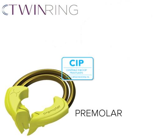 BIOCLEAR TWIN RING PREMOLAAR GEEL (2st)