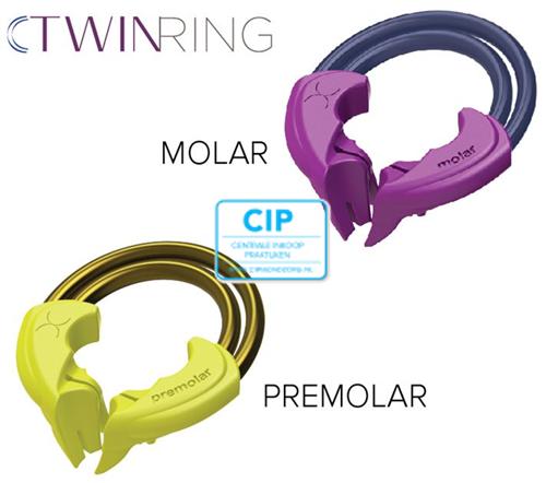 BIOCLEAR TWIN RING DUOPACK MOLAAR/PREMOLAAR GEEL/PAARS (2st)