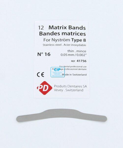 PD MATRIXBAND TYPE 8 NR.16 DUN (0,05mm)