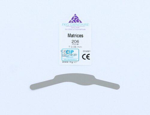 FKG MOLAR MATRICES 206 0,05mm STEEL (12st)