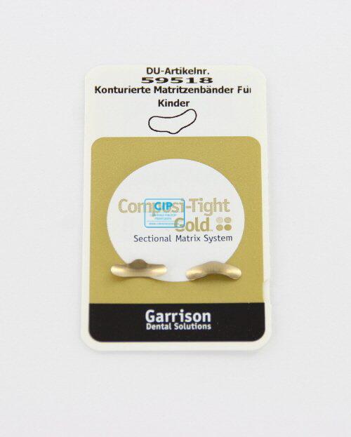 GARRISON COMPOSI-TIGHT GOLD MATRIXBANDJES PEDODONTIC 3,2mm AU-050 (50st)