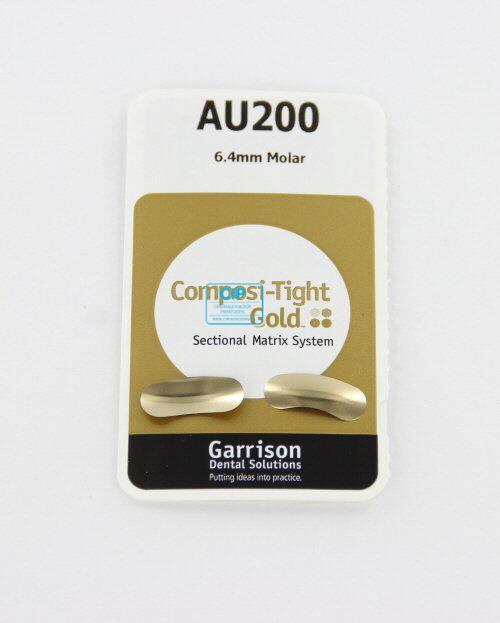 GARRISON COMPOSI-TIGHT GOLD MATRIXBANDJES MOLAAR 6,4mm AU-200 (100st)