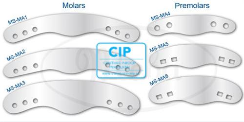 MEBA MATRIXEN NR.4 PREMOLAREN 2-GAATJES (12st)